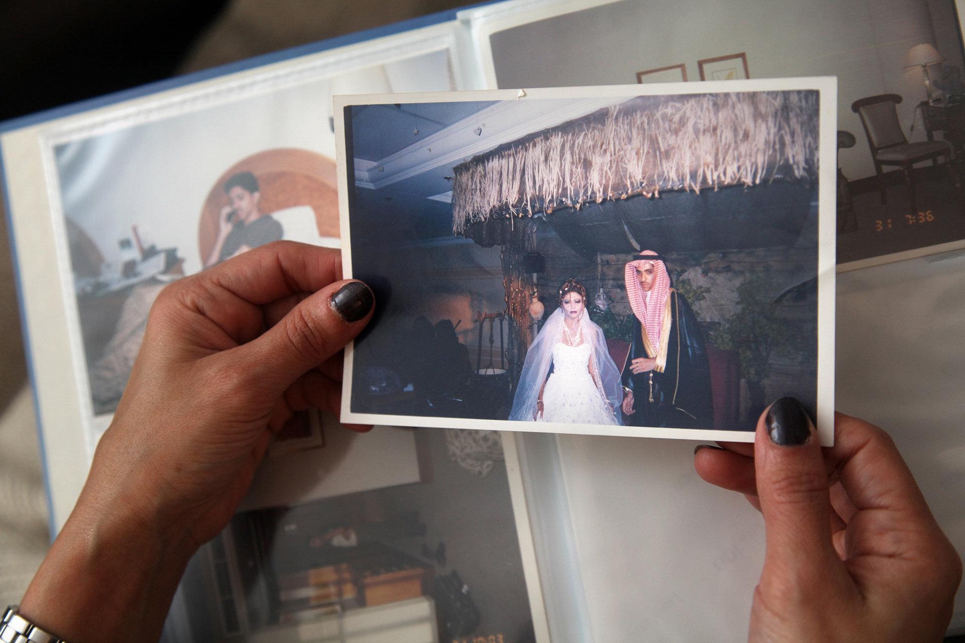 Hochzeitsfoto von Ralf Badawi und seiner Frau in Saudi-Arabien