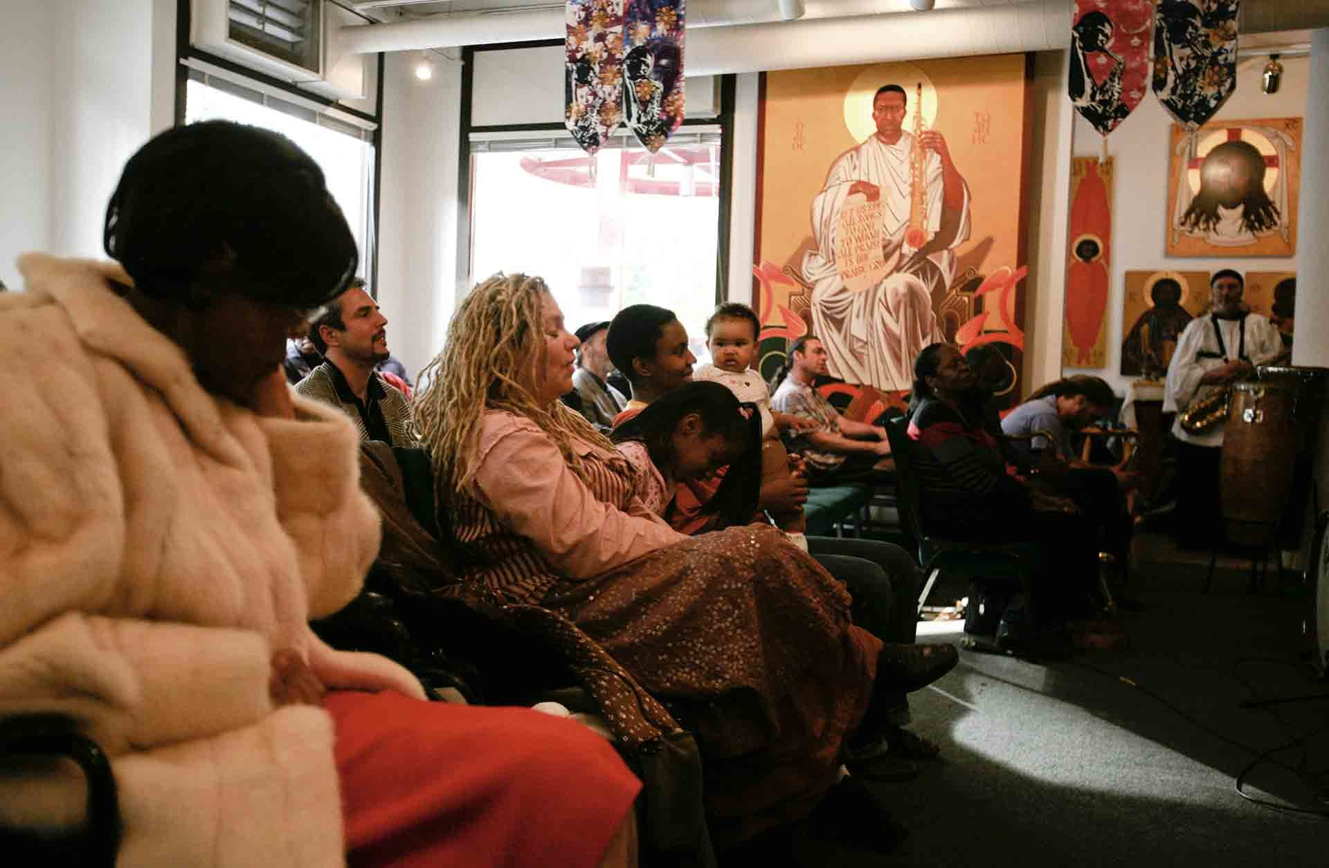 In der John Coltrane Kirche in San Francisco (Foto: Heidi Schumann/Polaris/laif)