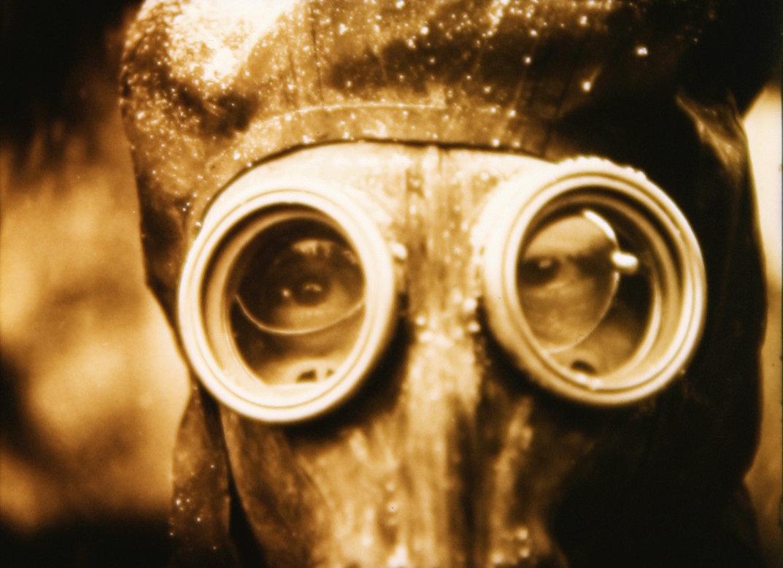 "Szene aus dem russischen Science-Fiction-Film ""Letters from a dead man"""