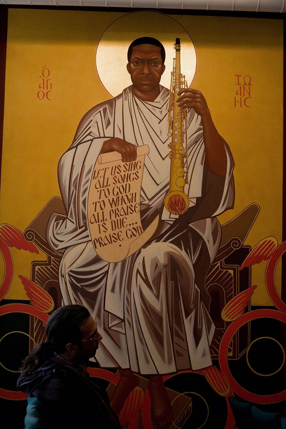 In der John Coltrane Kirche wird der Jazz-Saxofonist als Heiliger verehrt (Foto: Heidi Schumann/Polaris/laif)