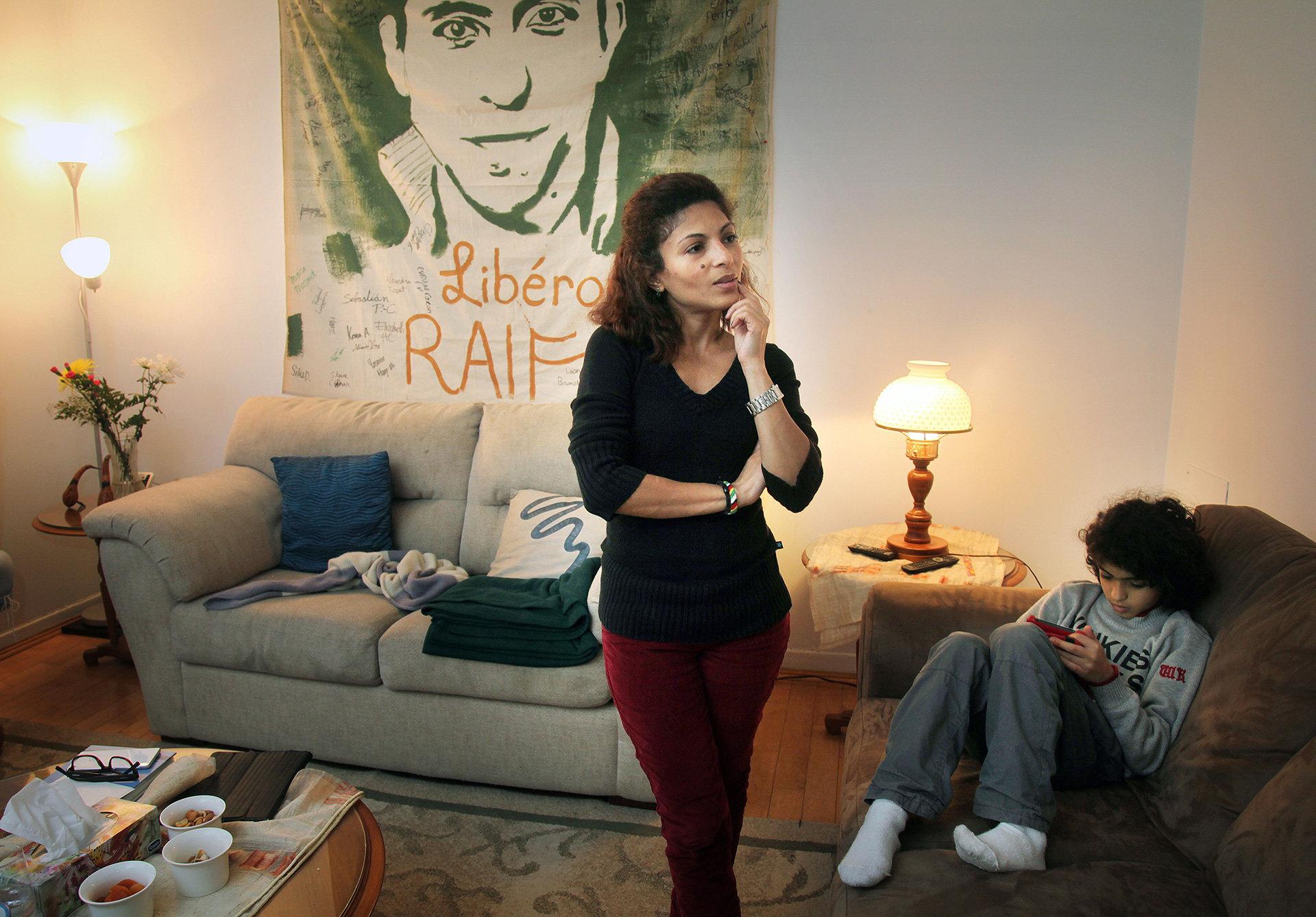 Ensaf Heyder, Frau von Ralf Badawi, im Asyl in Kanada