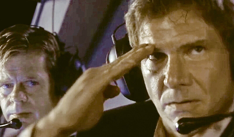 "Harrison Ford als PRESIDENT JAMES MARSHALL, ""Air Force One"" 1997 (Columbia Pictures)"