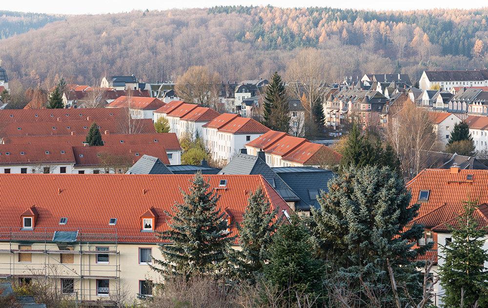 Arbeitersiedlung im Westen der Stadt