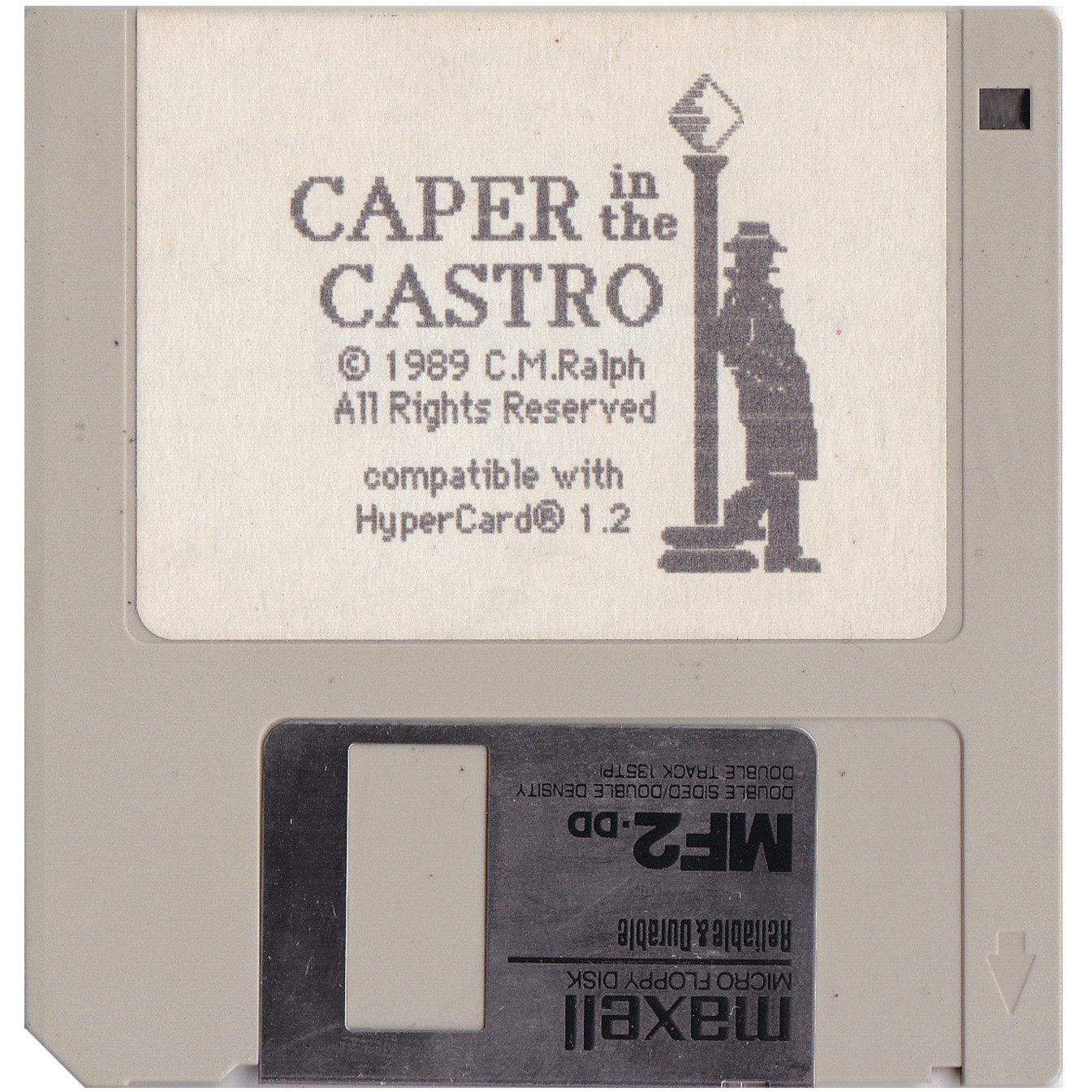 Caper in the Castro (1989): Original Disc. Developer: C.M.Ralph. Source: Private Collection of C.M.Ralph