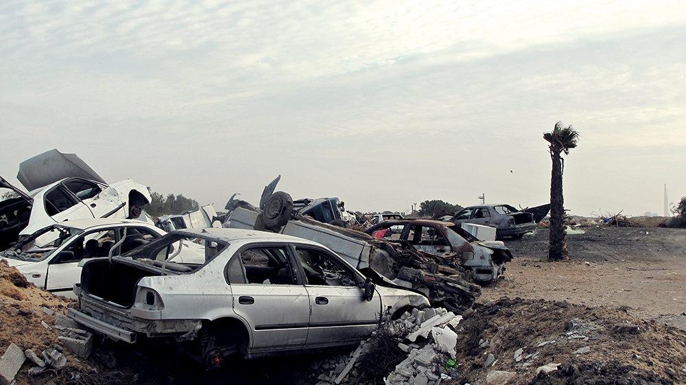 Autowracks in Jisr az-Zarqa (Foto: Franziska Knupper)