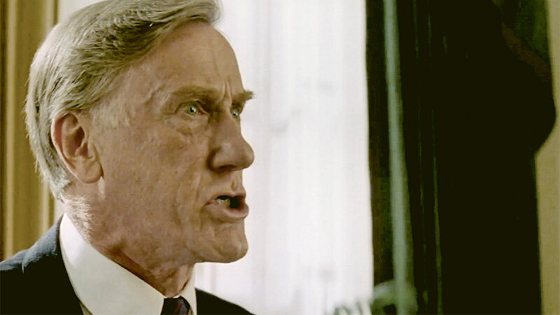 """Donald Moffat als PRESIDENT BENNETT, """"Clear and Present Danger"""" 1994 (Paramount Pictures)"""