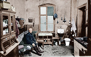 Arbeiterwohnung in Berlin, 1917 (Foto: picture alliance/akg-images)