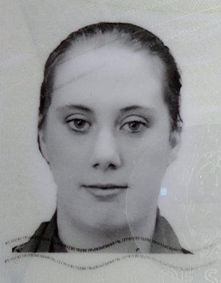 Samantha Lewthwaite, hier auf dem Foto eines gefälschten Passes, den sie verwendet hat (Foto: picture alliance / dpa)