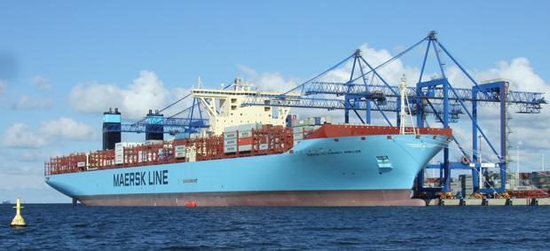 "Nach dem C2C-Prinzip gebaut: Das Triple-E-Class-Containerschiff  ""Mærsk Mc-Kinney Møller"" (Foto: Maersk Line)"