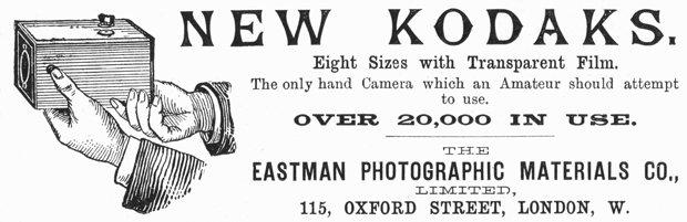 Erfolgreiche Pioniere: Eastman-Kodak präsentieren 1890 in einer Werbung ihre neue Kameratechnologie (Foto: United Archives/TopFoto/dpa)