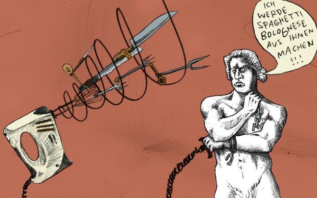 Für Karl Marx war er der Inbegriff des Arbeiters, der seine Ketten sprengt: Spartakus, der berühmte römische Sklave, zettelte einen der größten Aufstände im alten Rom an. Schlecht bewaffnet floh er im Jahr 73 v. Chr. mit rund 70 weiteren Männern aus einer (Illustration: Daniel le Bon)