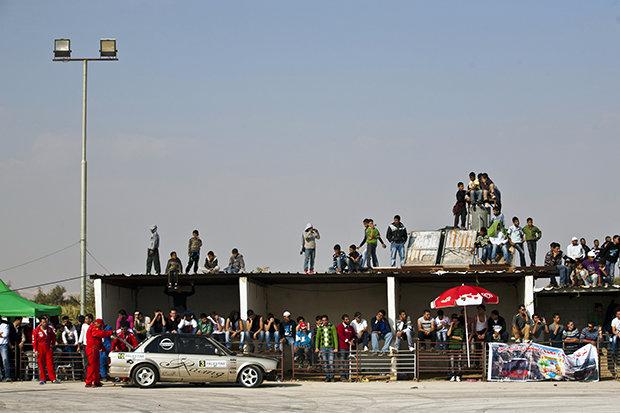 Am Rande eines Rennens in Jericho (Fotos: Avi Goldstein)