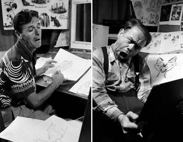 Cartoonzeichner mussten sich früher das menschliche Mienenspiel in einem Spiegel auf dem Schreibtisch immer wieder selbst vor Augen halten (Foto: Alfred Eisenstaedt / getty images)