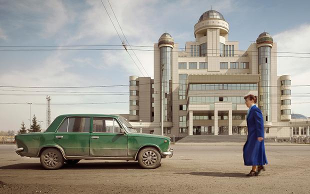 So gar keine Angst vor architektonischen Ordnungswidrigkeiten: Das Gebäude der Verkehrspolizei von Kasan  (Frank Herfort)