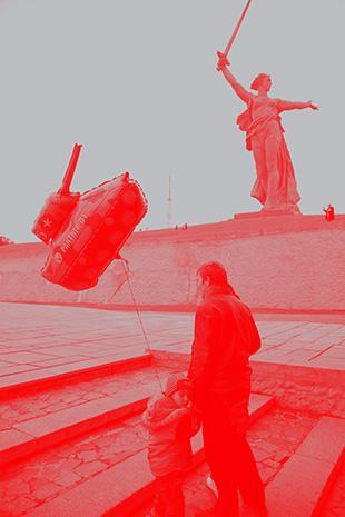 """Das Denkmal """"Mutter Heimat ruft!"""" erinnert an die Schlacht zwischen der deutschen Wehrmacht und der Roten Armee"""