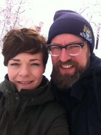 Oda und Sven auf ihrer Reise von Moskau nach Peking