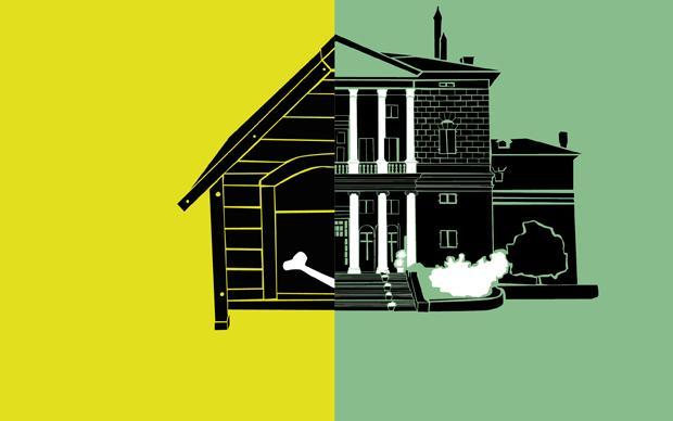 Ok, diese Darstellung ist leicht übertrieben: Fakt ist, in Duisburg gibt's mehr Wohnraum fürs Geld (Illustration: Arndt Benedikt)