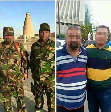 """Mit solchen Vergleichsbildern versucht die Facebook-Gruppe """"Murderers not Refugees"""" möglichen Kriegsverbrechern unter den Flüchtlingen auf die Schliche zu kommen – dort natürlich unverpixelt (Foto: Facebook)"""