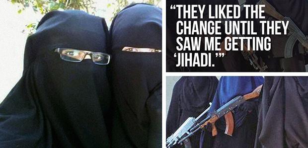 Die Veränderung gefällt auch vielen Frauen nach einer gewissen Zeit bei Daesh nicht mehr. Doch eine Flucht ist lebensgefährlich. (Foto: via Twitter: @UmmAnwar/@yallahAlJannahh)