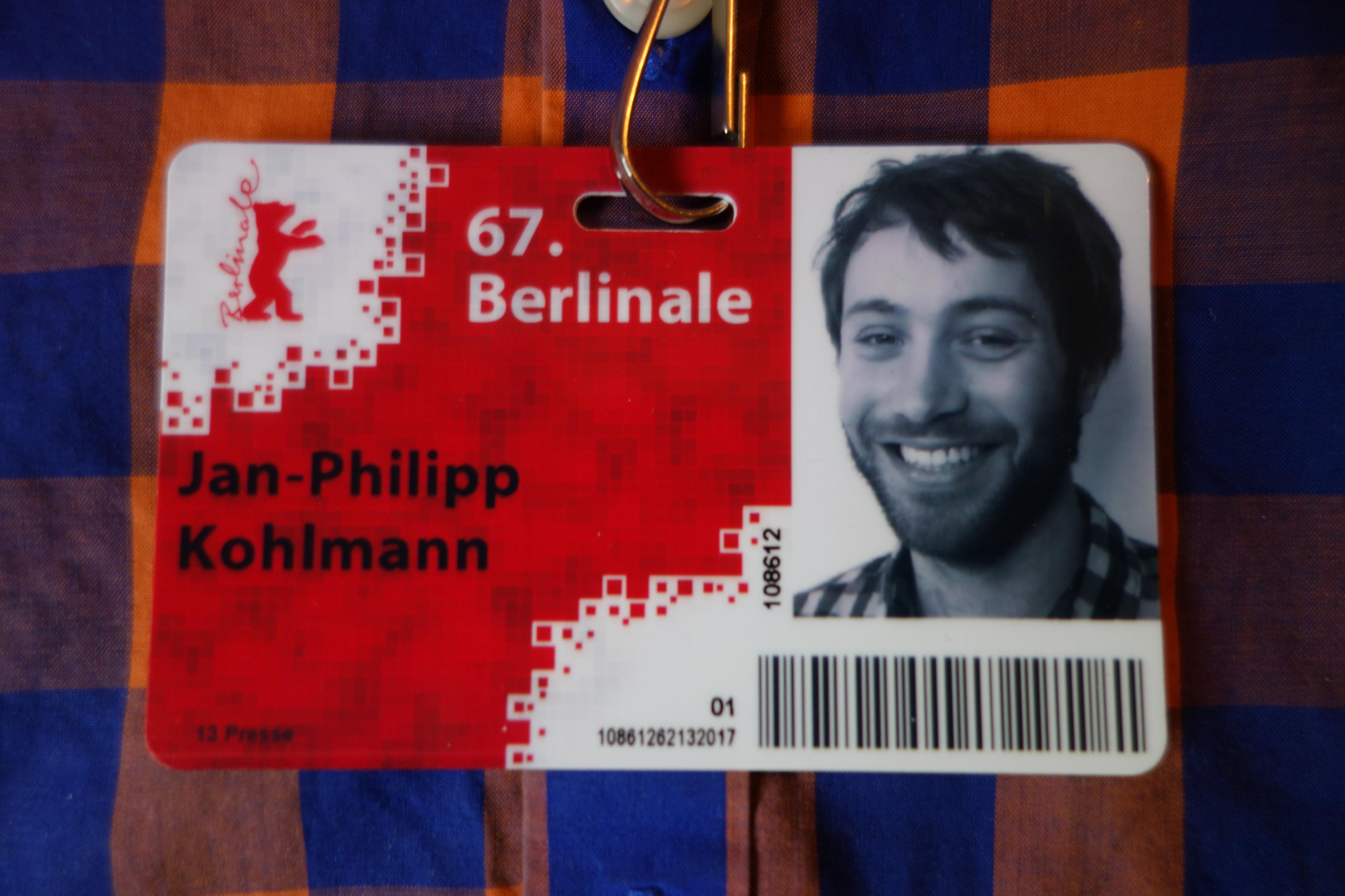 Berlinale-Blogger Jan-Philipp Kohlmann