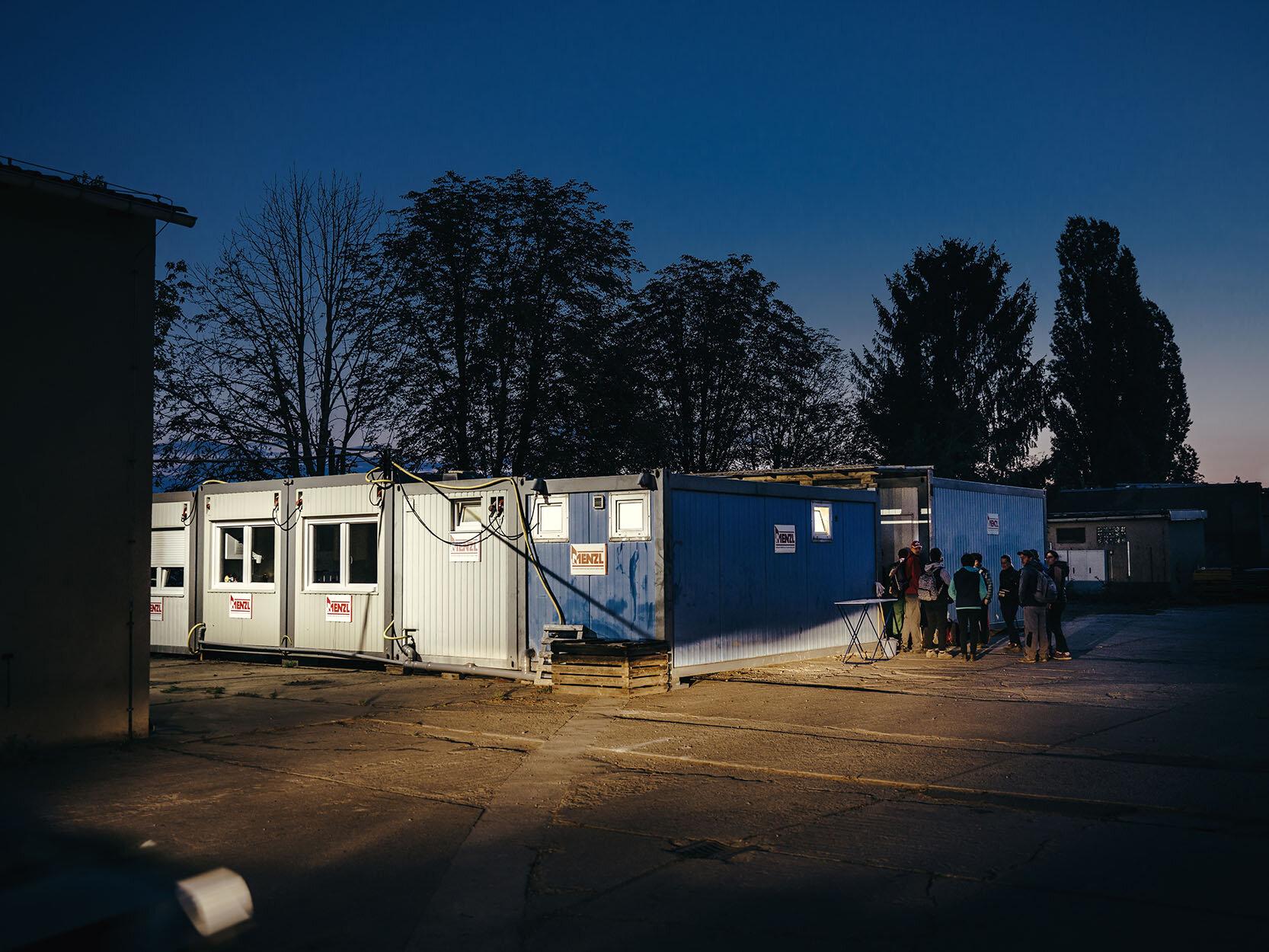 Containerunterkunft von rumänischen Saisonarbeitern