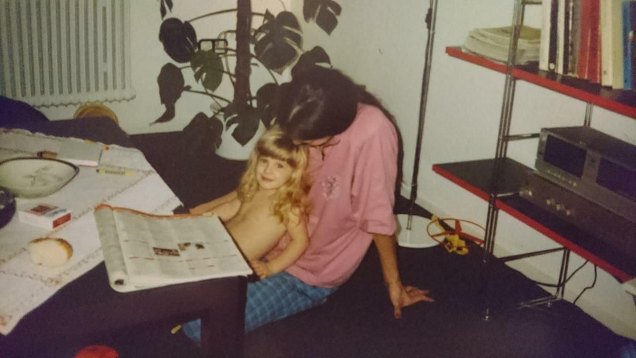 Die Autorin und ihre Mutter