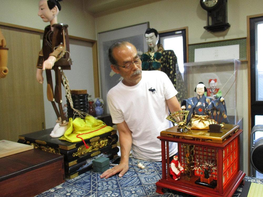 Shobei Tamayas Familie baut seit Jahrhunderten mechanische Puppen, Vorläufer der Robotik (Foto: Felix Lill)