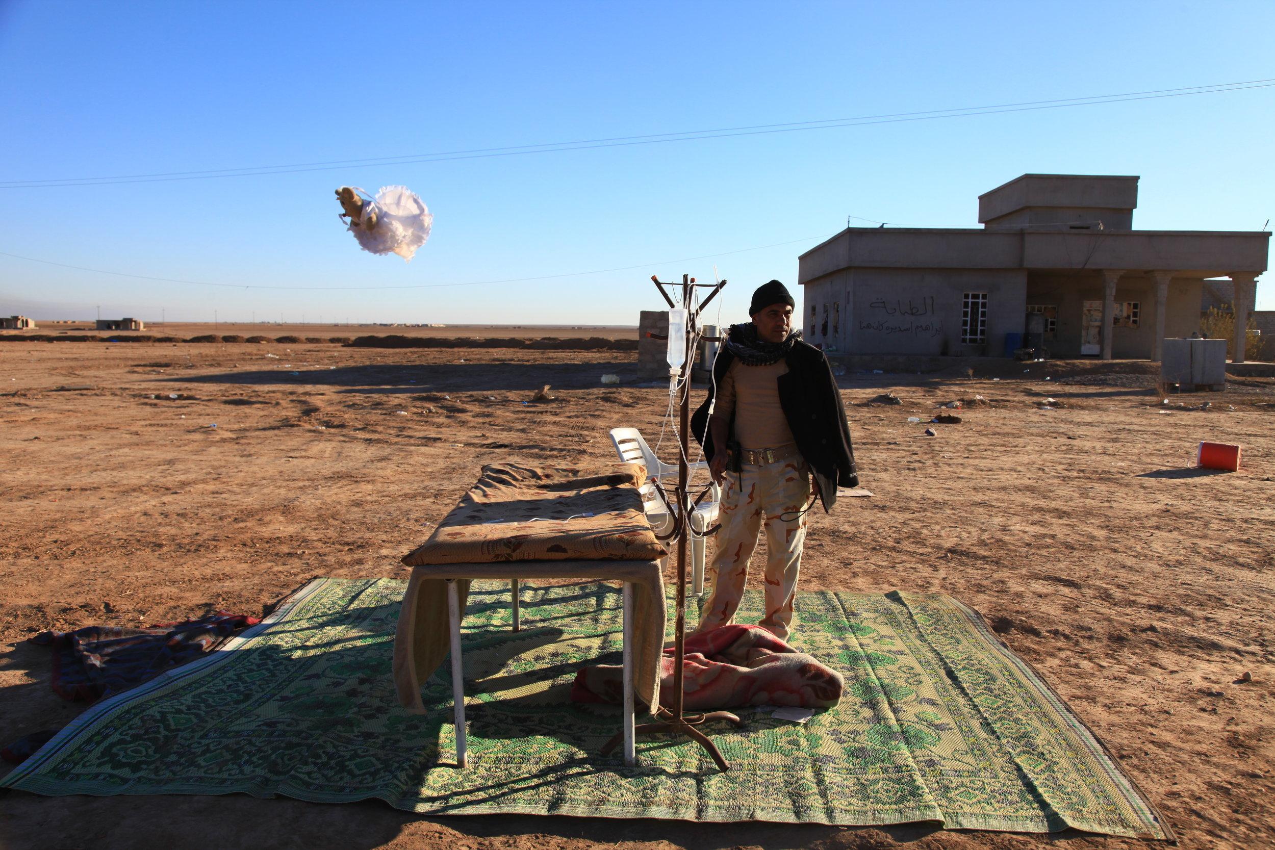 Krankenbett in der Wüste