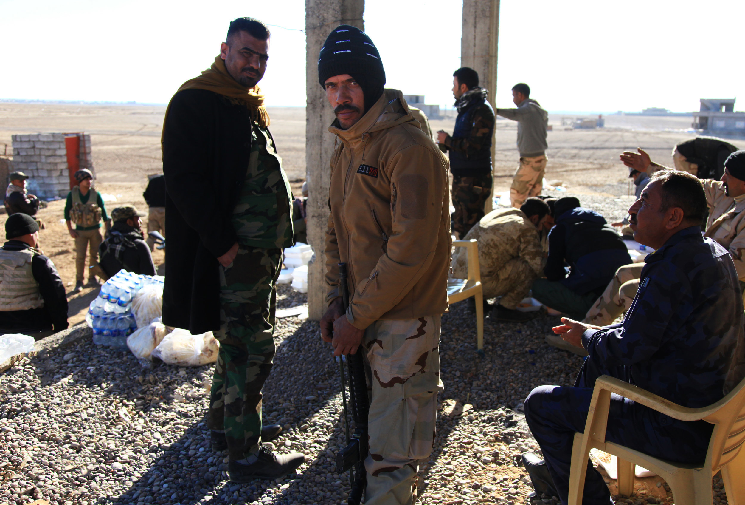 Soldaten an der Front