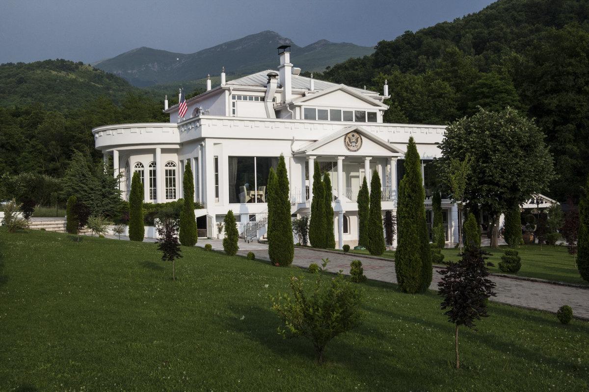 Eine Miniatur-Version des Weißen Hauses