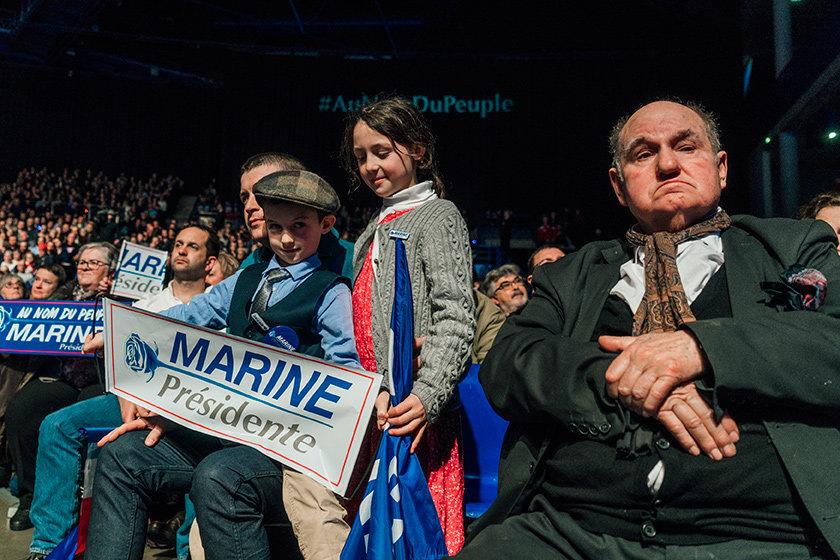 Wahlkampfveranstaltung von Marine Le Pen in Nantes (Foto: Adrien Selbert/VU/laif)