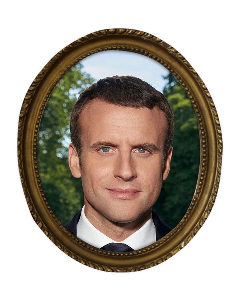 Macron, Haare