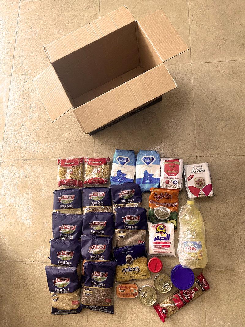 Libanon, Corona, Helfer, Lebensmittel