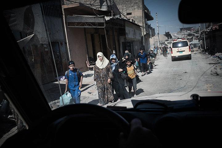 Zivilisten in Mossul