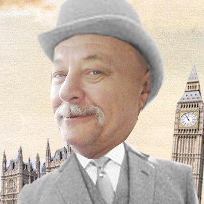 Kollage mit Robert Sleigh und Big Ben