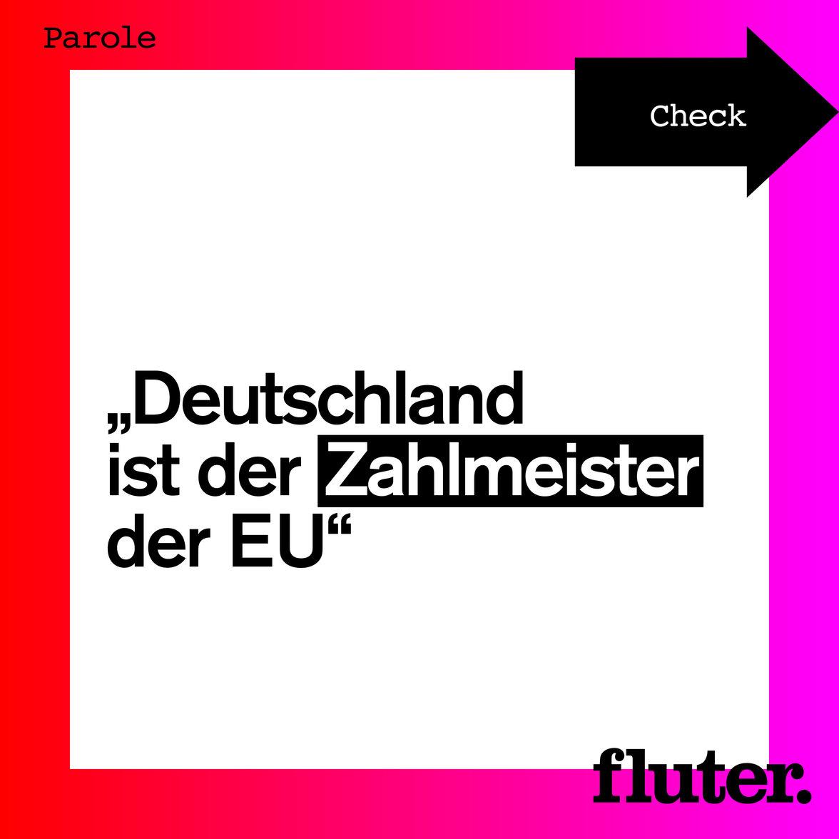 Wie viel zahlt Deutschland an die EU? –Faktencheck