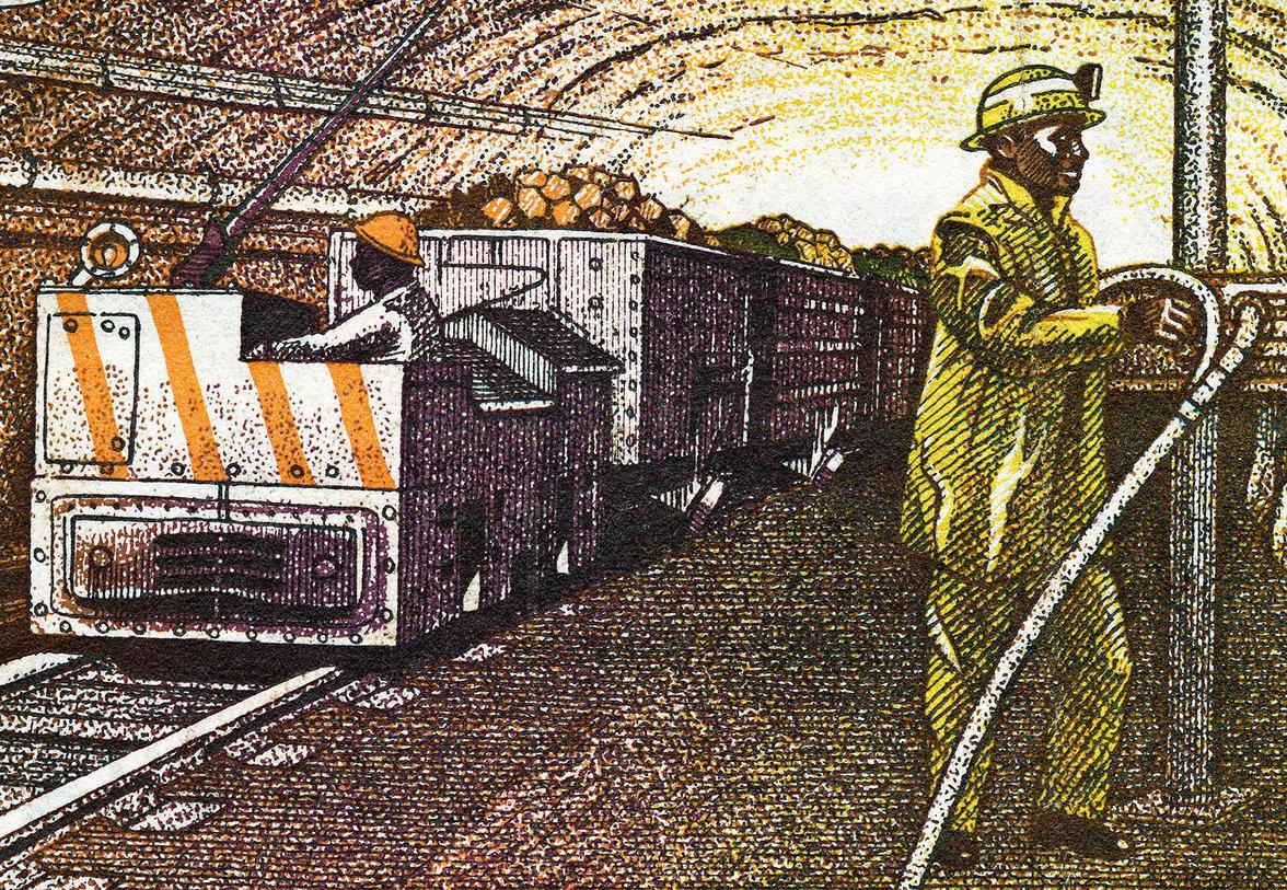 Ein Minenarbeiter in Sambia