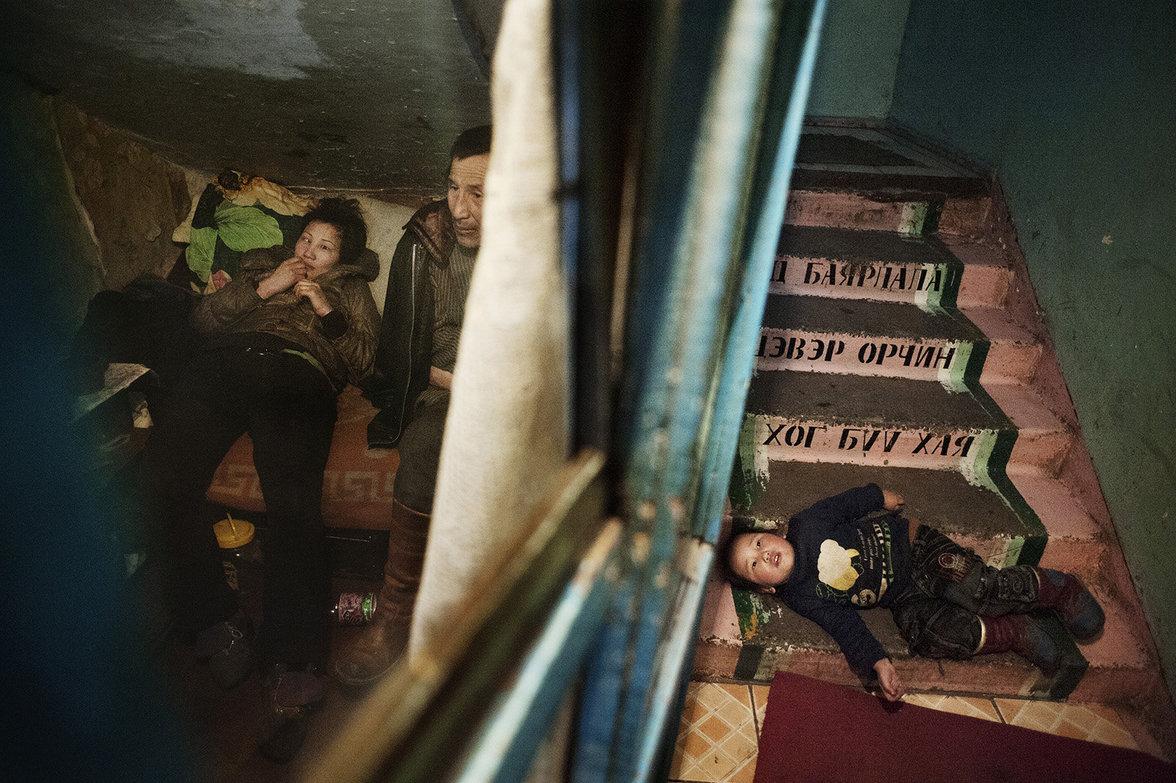 Familie Jigjjav lebt in ärmlichen Verhältnissen in der Stadt