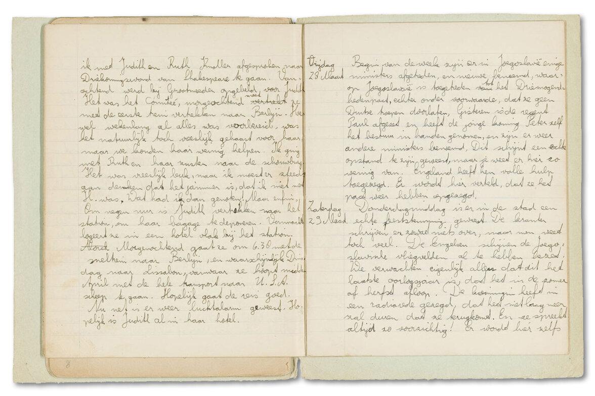 Tagebuch von Arnold Heilbut (Foto: Sammlung Jüdisches Historisches Museum, Amsterdam)