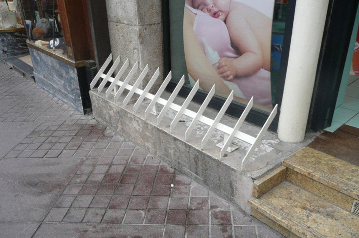 Defensive Architektur gegen Obdachlose