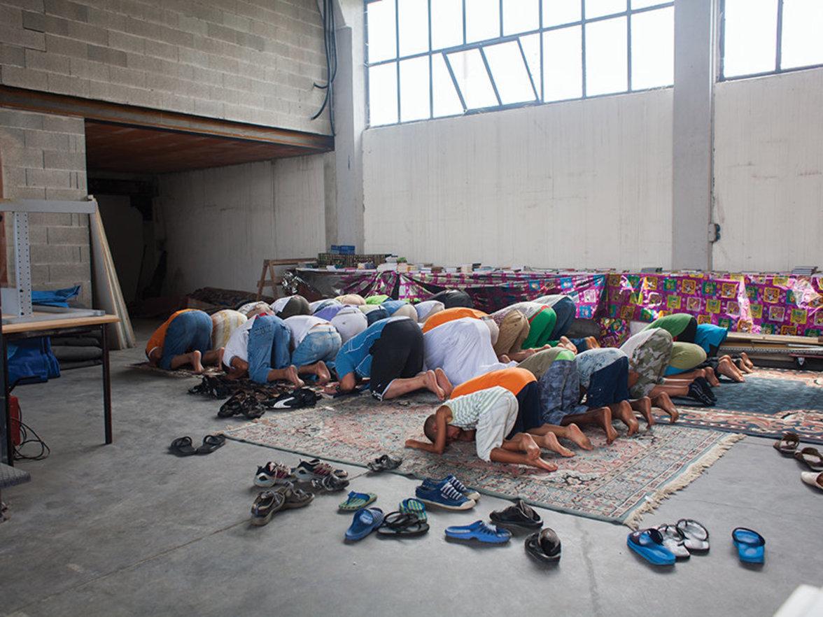 Verona: Ein Gebet am ersten Tag des Ramadan.