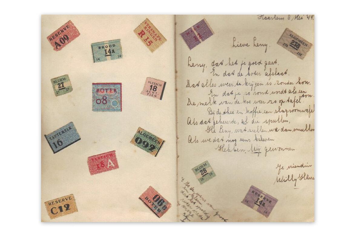 Tagebuch mit Rationsmarken
