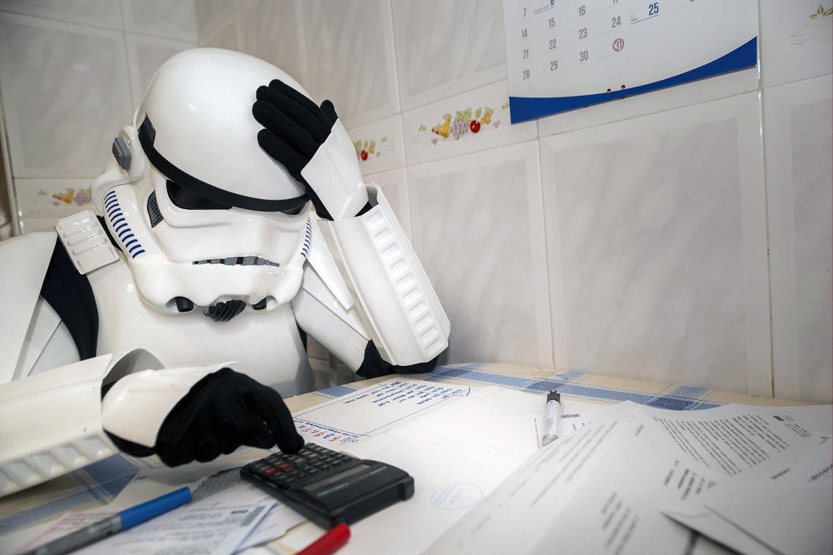 Ein Stormtrooper rechnet ab