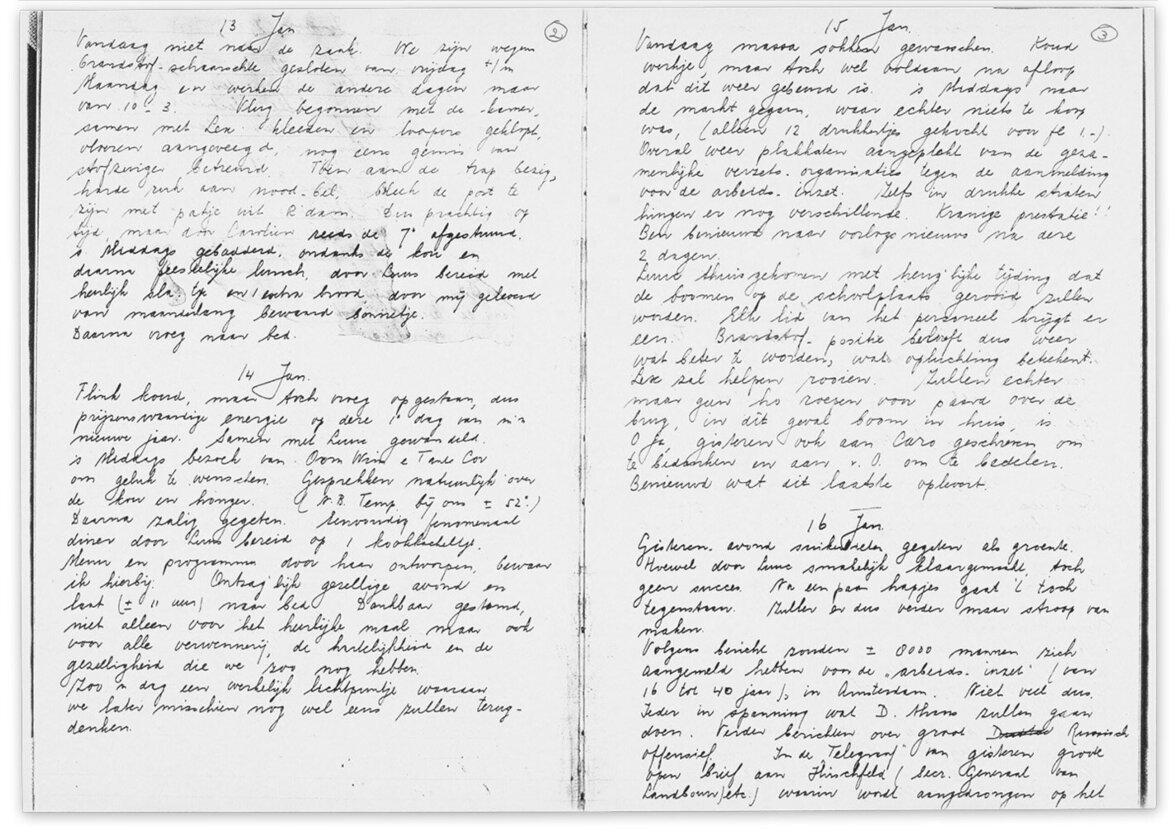 Tagebuch von Maria Takkenberg (Foto: NIOD collection 244 diaries Nr. 1520)