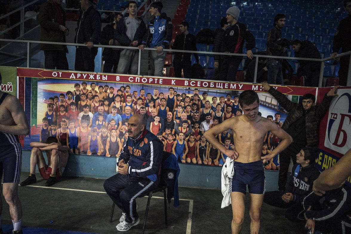Junge Ringer in Dagestan