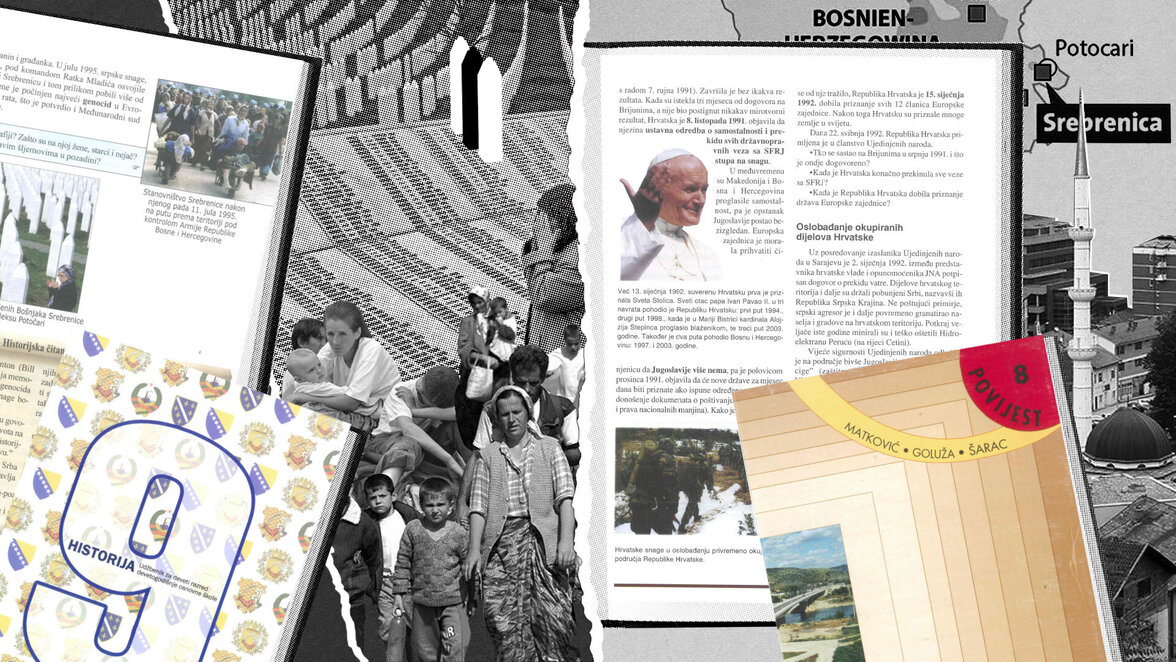 Srebrenica, Schulbuch
