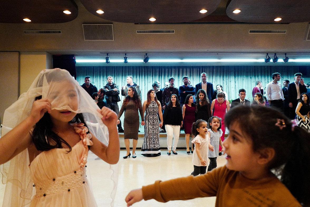 Children playing during a kurdish wedding party
