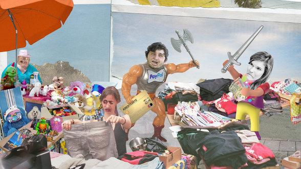 Streit auf dem Flohmarkt
