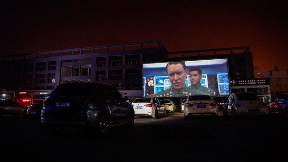 """Ein Autokino in China zeigt """"Valerian"""""""