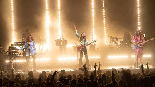 Die Band Haim auf der Bühne